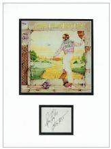 Bernie Taupin Autograph Signed Display